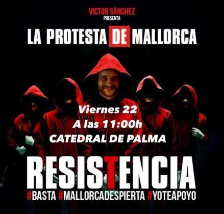 Poster for the protest scheduled for this coming Friday at 11.00 in Palma