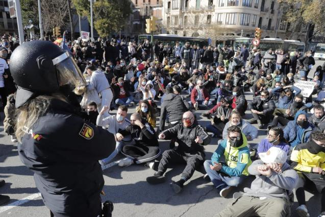 Palma Mallorca protest by hospitality sector