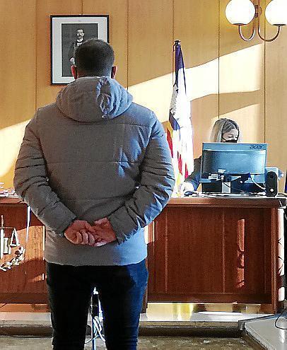 Defendant in court in Palma, Mallorca