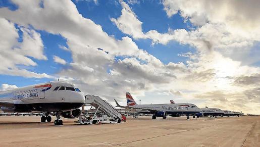 BA planes at Palma airport.