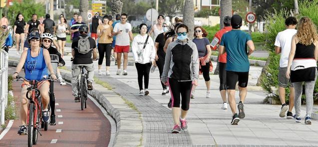 People on the street in Palma, Mallorca