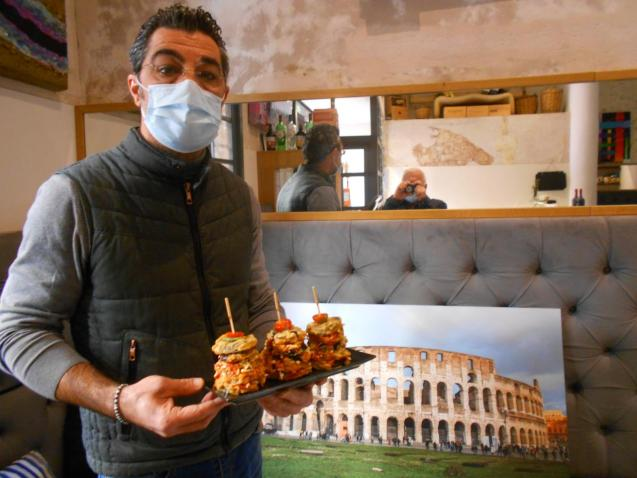 Sandro with his version of parmigian