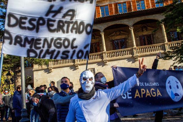 Protest against Covid measures in Palma, Mallorca