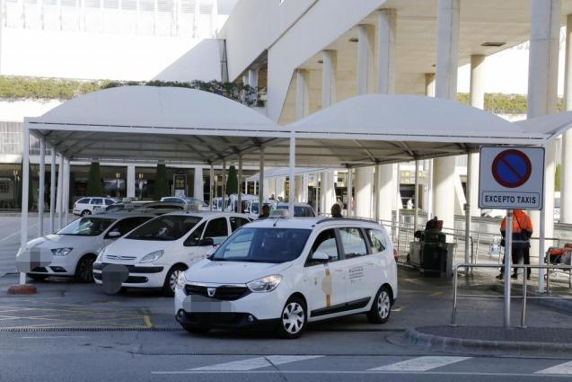 Taxis at Palma Son Sant Joan Airport, Mallorca