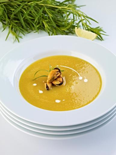 Catalan-style mussel soup.