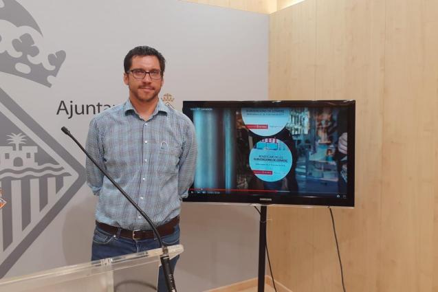 Rodrigo Romero of Podemos in Palma