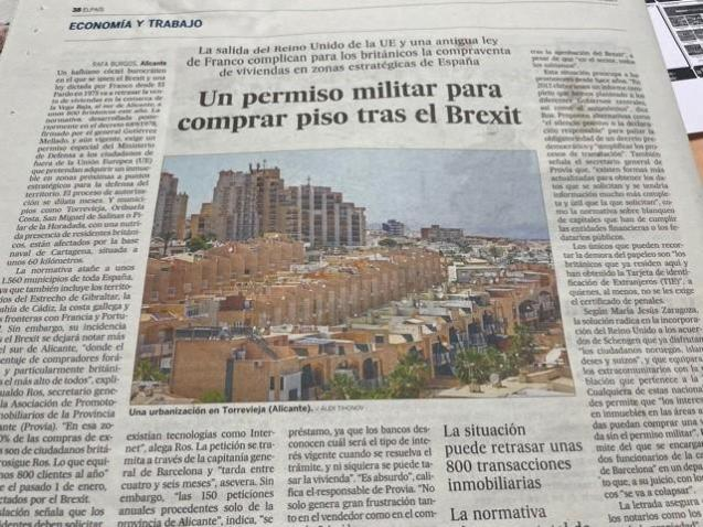 The news story in El Pais newspaper newspaper.