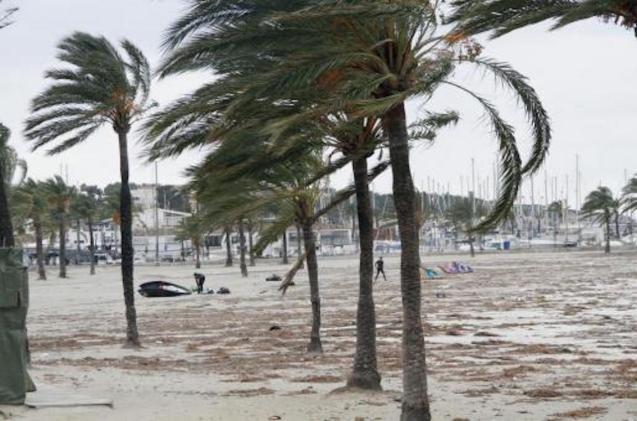Strong winds in Mallorca.