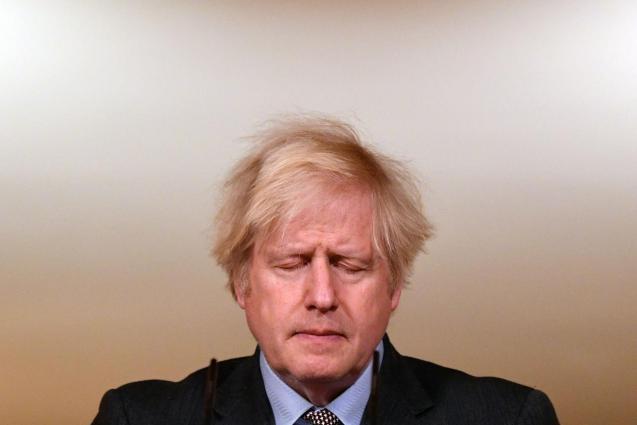 Britain's PM Johnson holds virtual coronavirus briefing in London