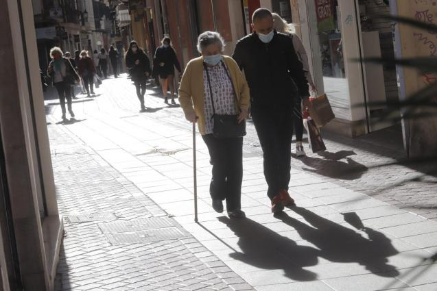 People walking in a street in Palma, Mallorca