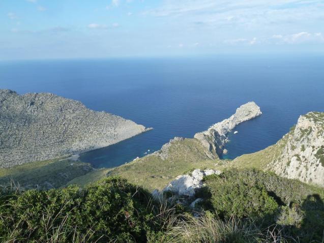 Punta Galera, Cala Castell and Cala Estremer in Pollensa, Mallorca