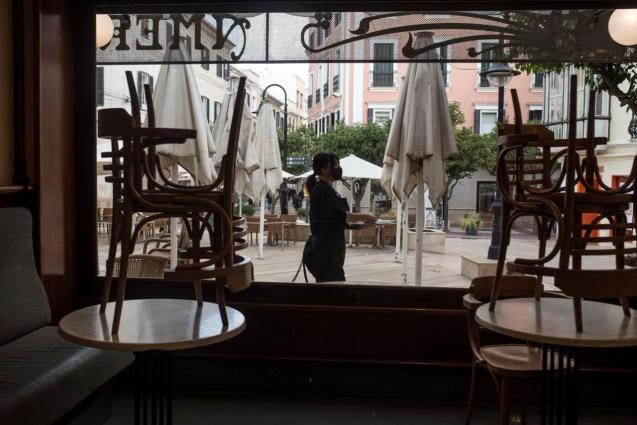 A closed bar in Mallorca