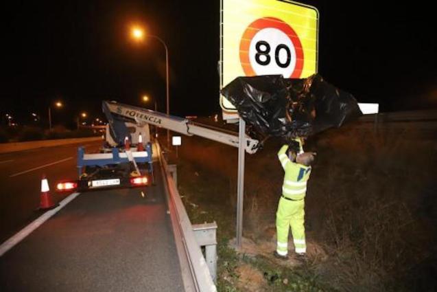 New speed limit on Vía de Cintura.