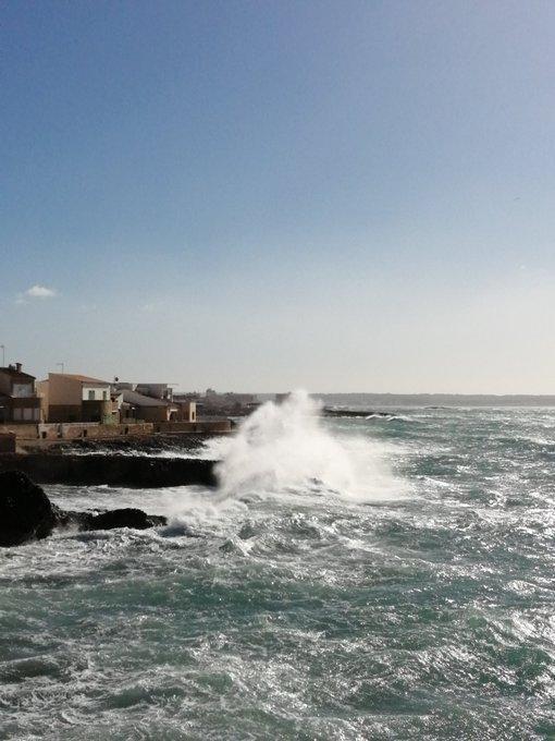 Rough seas in Mallorca