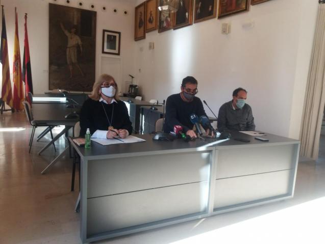 Pollensa council press briefing.