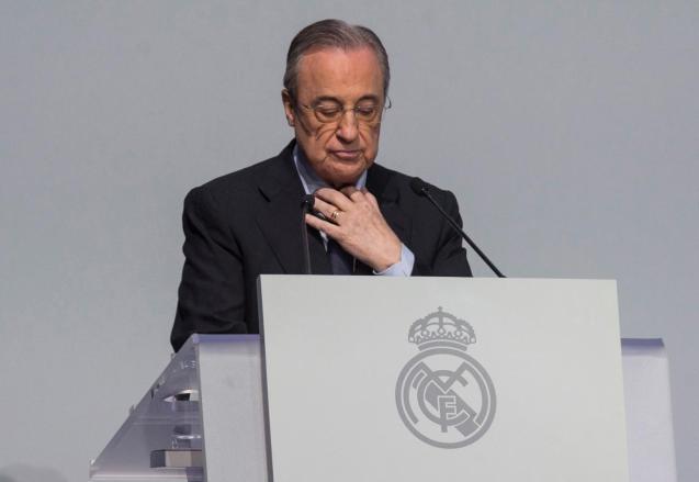 Real Madrid president Florentino Perez tested positive for coronavirus