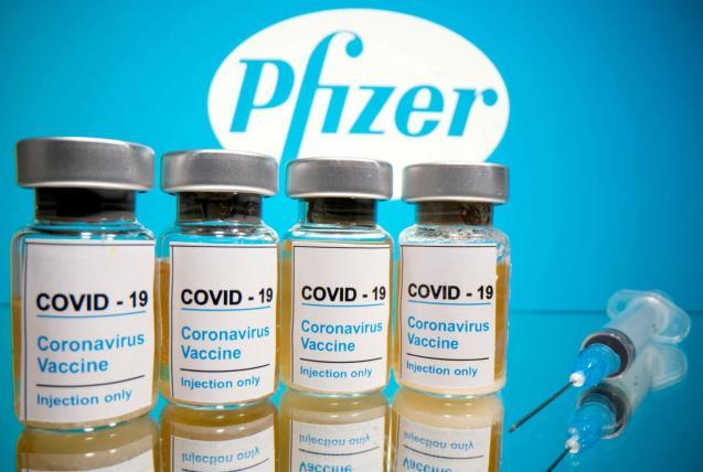 Vials of Pfizer's COVID-19 vaccine