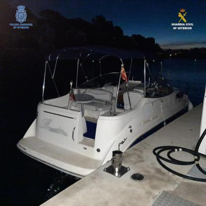 Police seize luxury yacht.