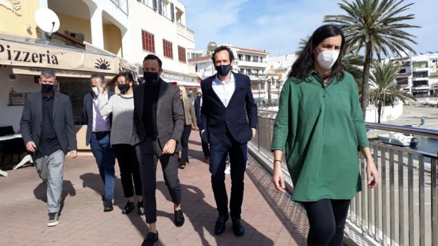 President Francina Armengol of the Balearics was in Cala Ratjada with other ministers