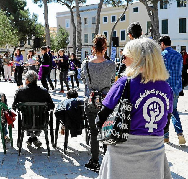An event against gender violence in Minorca.