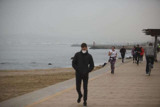 People exercising in Palma, Mallorca
