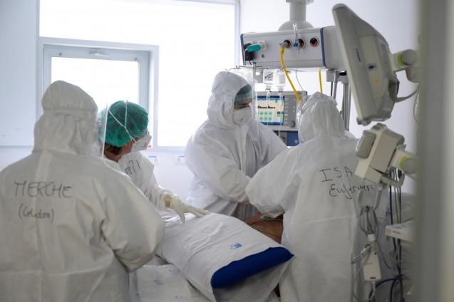 coronavirus patients in one of the Covid ICUs