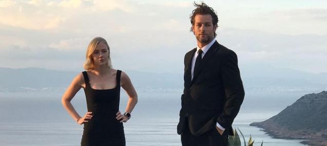 Actors Julian Looman and Elen Rhys in this promotion photo for The Mallorca Files
