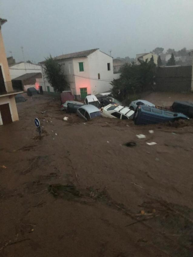 An extraordinary weather event, there was an average of 257 litres per square metre of rainfall