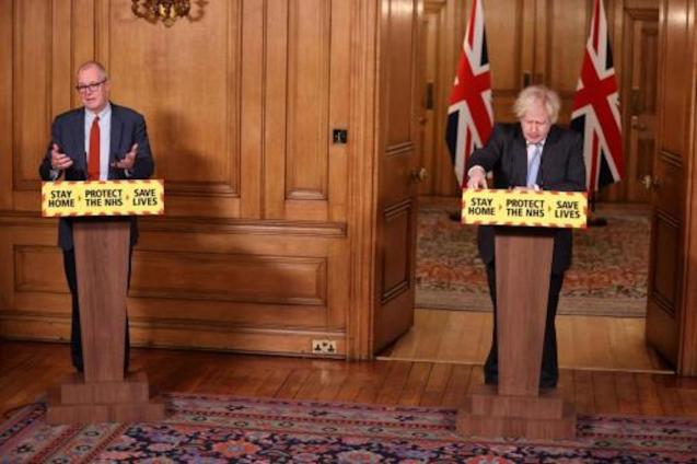 UK Scientific Adviser Patrick Vallance & UK PM Boris Johnson.