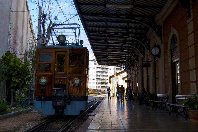 Soller train at Palma station