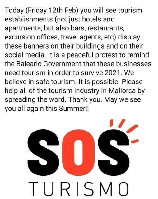 SOS tourism support campaign