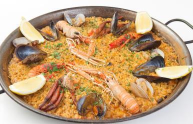 The Spanish paella.