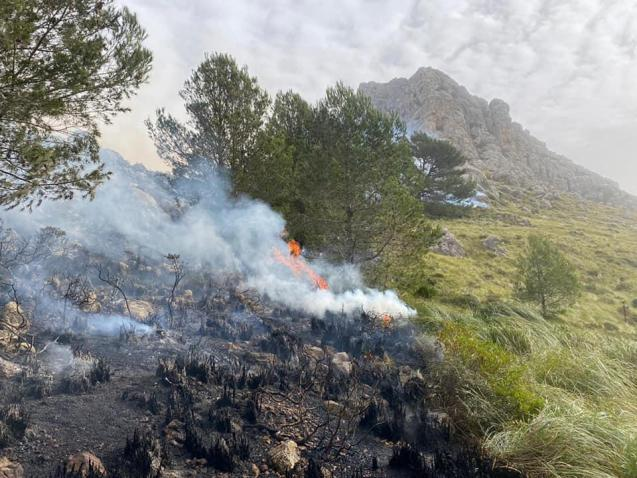 Fire on the tramuntana