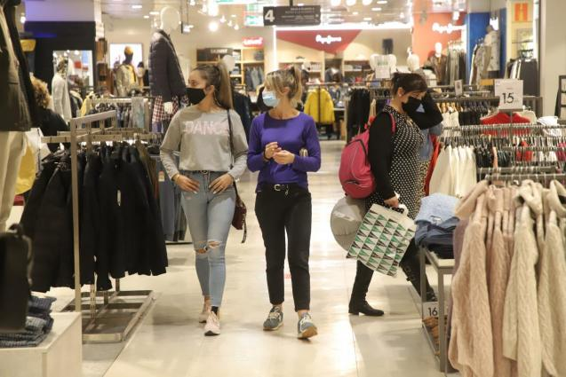 As of Monday large shopping centres will open