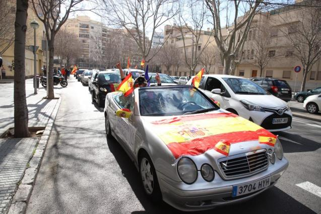 Palma Mallorca protest against the Balearic and Spanish governments.