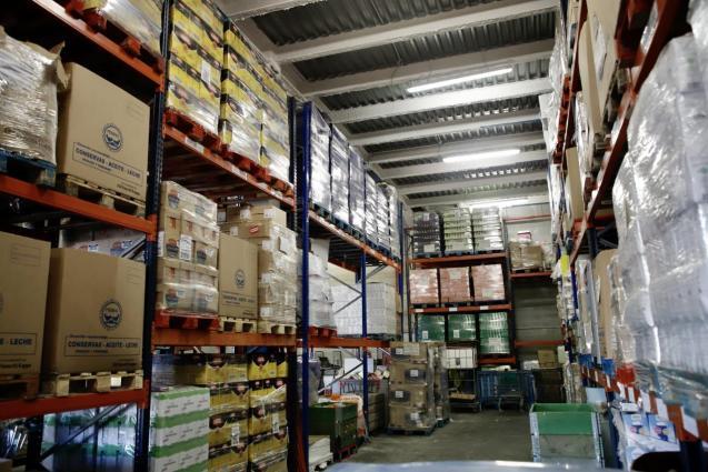 The Food Bank in Mallorca warehouse