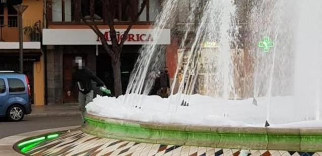 Plaça de la Reina Fountain, Palma.