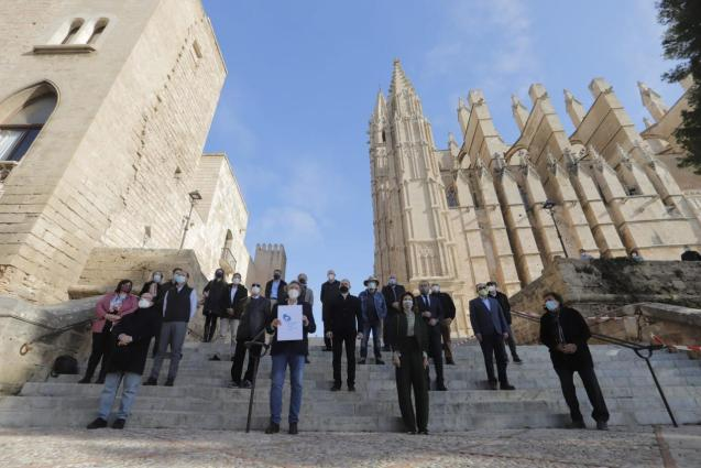 Vaccines, Health and Economy Platform by Palma Cathedral, Mallorca