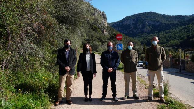 Balearic government representatives in the Tramuntana Mountains, Mallorca