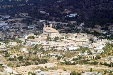 Aerial view of Calvia village.