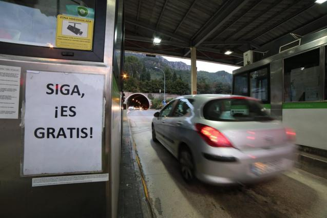 The toll for the Soller Tunnel in Mallorca was lifted in December 2017.