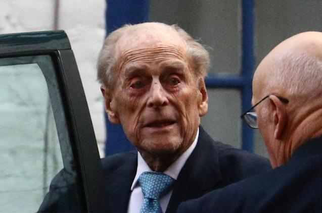 Britain's Prince Philip leaves the King Edward VII's Hospital in London