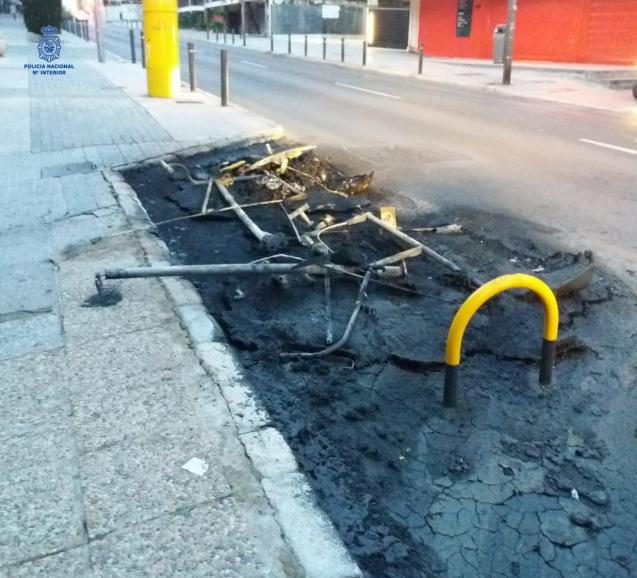 Rubbish containers set ablaze in Palma, Mallorca