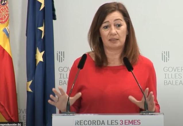 President Francina Armengol of the Balearics