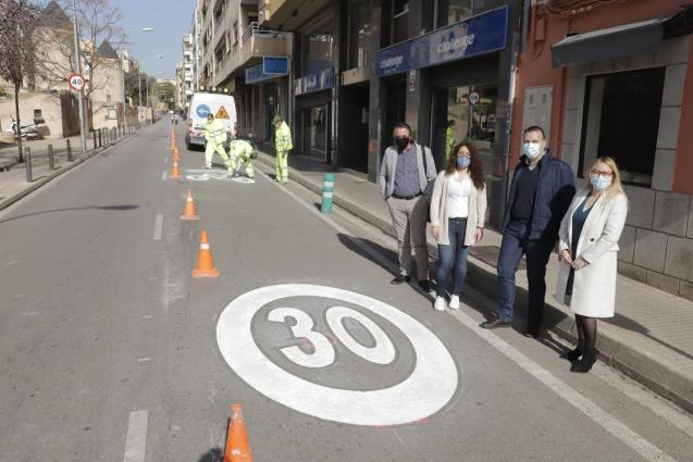 30 km/h speed lane in Palma, Mallorca