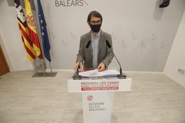 Balearic government spokesperson, Iago Negueruela