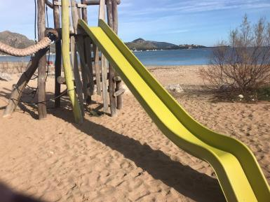 The Puerto Pollensa playgrounds.