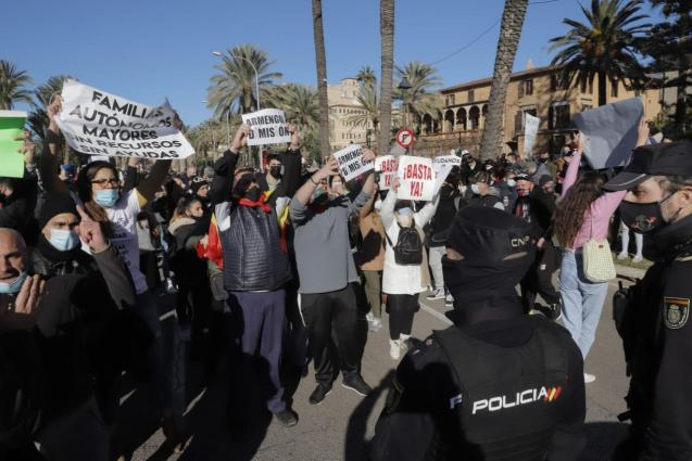 Hospitality sector protest in Mallorca