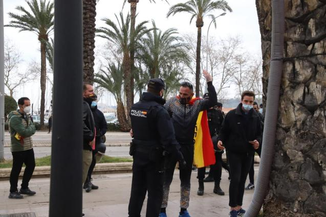 Protest in Palma, Mallorca against bar and restaurant closures
