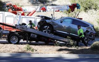 State of Tiger Wood's car crash last week